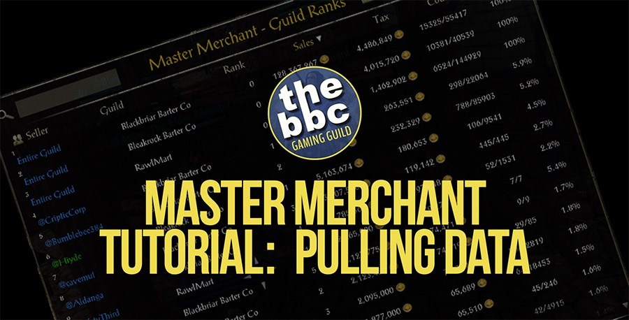 ESO Master Merchant Tutorial:  Pulling Data