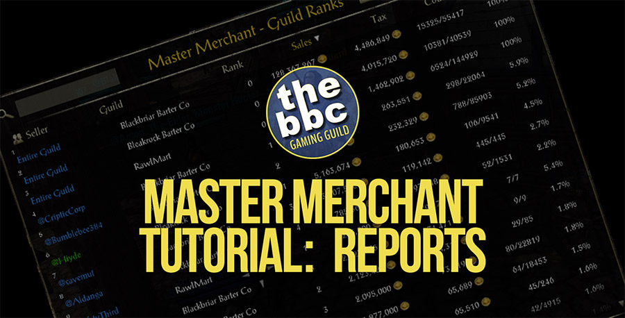 ESO Master Merchant Tutorial:  Reports