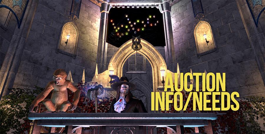 Auction Info & Needs